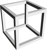 Formulário impossível de um cubo ilustração stock
