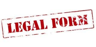 Formulário legal ilustração royalty free