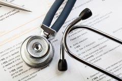 Formulário médico imagens de stock