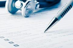 Formulário médico Fotos de Stock