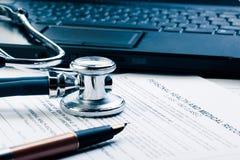 Formulário médico Foto de Stock