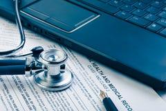 Formulário médico fotografia de stock