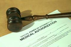 Formulário médico da autorização foto de stock
