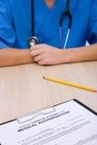 Formulário médico da autorização imagens de stock royalty free