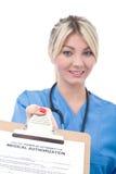 Formulário médico da autorização foto de stock royalty free