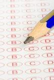 Formulário macro do teste da instrução Imagens de Stock Royalty Free