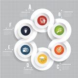 Formulário moderno abstrato do molde do círculo infographic ilustração stock