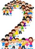 Formulário número dois das crianças ilustração do vetor