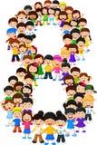 Formulário número oito das crianças ilustração royalty free