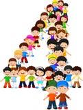 Formulário número quatro das crianças ilustração royalty free