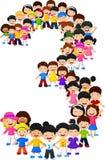 Formulário número três das crianças ilustração royalty free