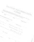 Formulário paciente Imagem de Stock Royalty Free
