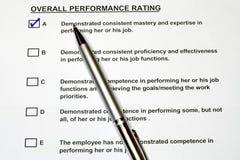 Formulário total 2 da avaliação de desempenho Imagem de Stock