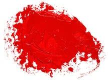 Formulário vermelho Textured da bolha do discurso do círculo do curso da escova de pintura do óleo ilustração royalty free