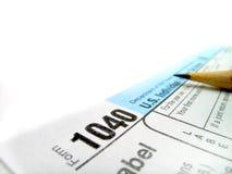 Formulários de imposto 1040 Fotos de Stock Royalty Free
