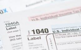 Formulários de imposto fotos de stock