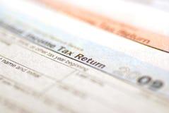 Formulários de imposto 2009 foto de stock royalty free