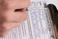 Formulários de imposto imagens de stock royalty free