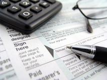 Formulários de imposto Fotos de Stock Royalty Free