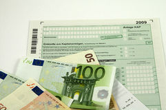 Formulários de imposto alemães 2009 Foto de Stock Royalty Free