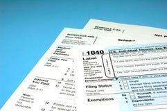 Formulários de imposto da renda Imagem de Stock Royalty Free