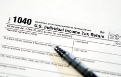 Formulários de imposto dos E.U. imagens de stock royalty free