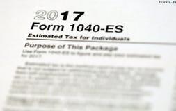Formulários de imposto dos E.U. fotografia de stock royalty free