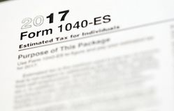 Formulários de imposto dos E.U. foto de stock