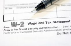 Formulários de imposto dos E.U. imagem de stock
