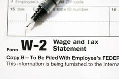 Formulários de imposto dos E.U. fotos de stock royalty free