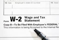 Formulários de imposto dos E.U. fotos de stock
