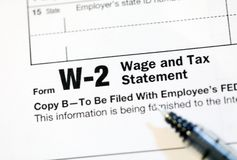 Formulários de imposto dos E.U. Imagens de Stock