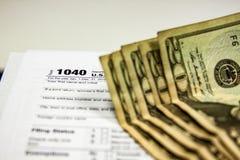 Formulários de imposto em um fundo branco fotografia de stock royalty free