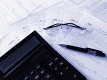 Formulários de impostos imagens de stock royalty free