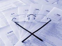Formulários de impostos imagem de stock