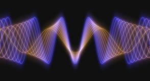 Formulários de onda 3D rendidos ilustração stock