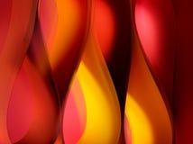 Formulários de onda quentes da flama da cor fotografia de stock