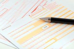 Formulários de transferência do banco imagens de stock