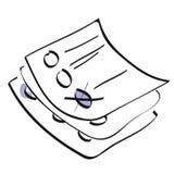 Formulários de votação ilustração stock