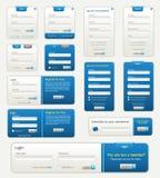 Formulários de Webste Foto de Stock Royalty Free