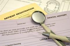Formulários dentais Foto de Stock