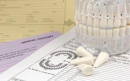 Formulários dentais Fotografia de Stock Royalty Free