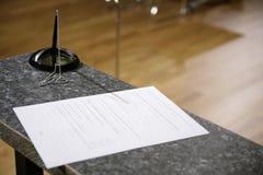 Formulários do banco Imagem de Stock