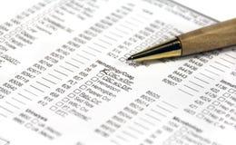 Formulários do exame médico Imagem de Stock Royalty Free