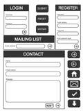Formulários do Web site Imagem de Stock