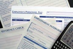 Formulários dos recursos humanos & PDA Fotos de Stock Royalty Free