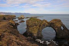 Formulários extremos da paisagem em Islândia Imagens de Stock