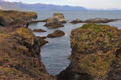 Formulários extremos da paisagem em Islândia Fotografia de Stock
