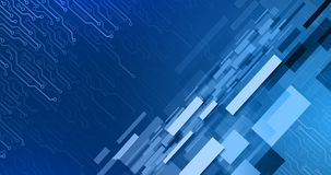 Formulários geométricos e elementos eletrônicos Fotografia de Stock