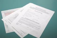 Formulários médicos Fotografia de Stock Royalty Free